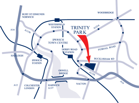 Trinity Park How To Find Us - Find us map