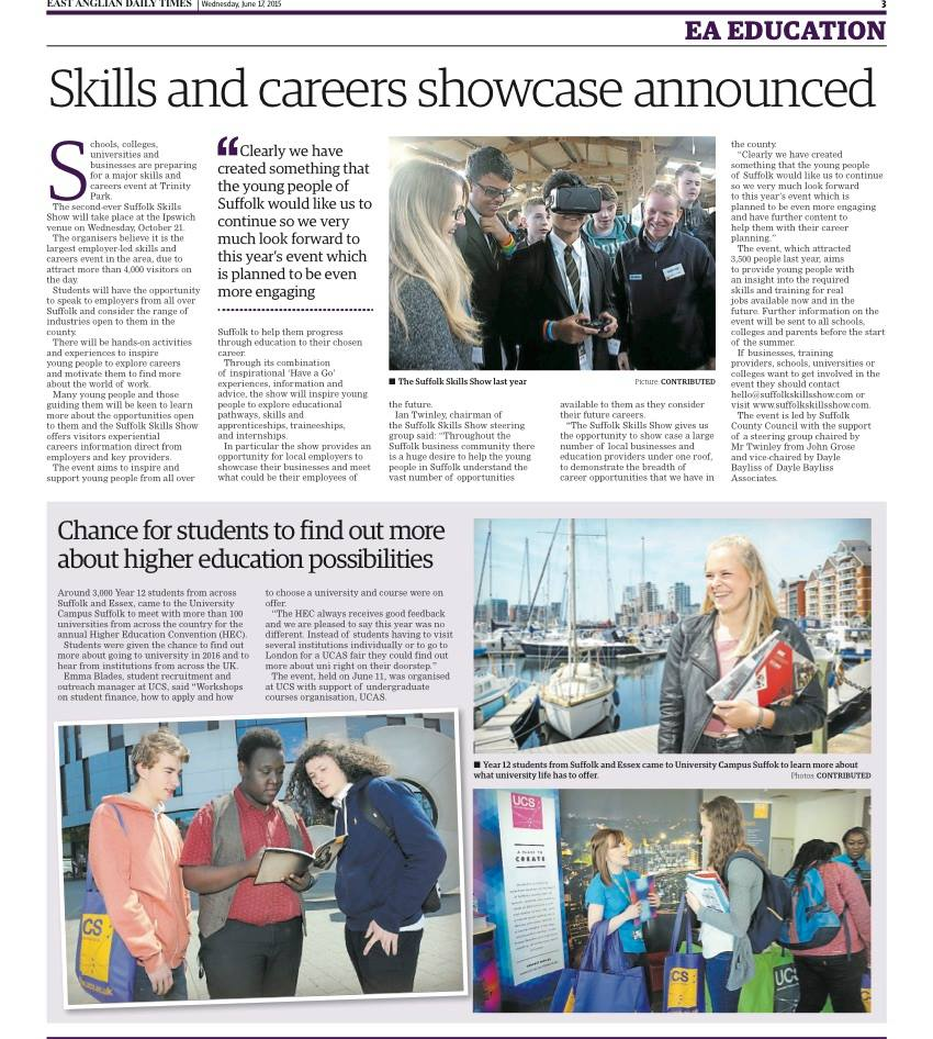 Skills and Careers Showcase | Suffolk Skills Show 2015