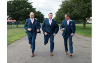 Groom and Grooms Men Running