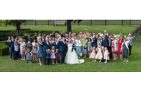 Large Wedding Party Photograph